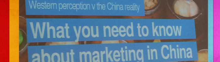 Marketing: Western Perceptions, Chinese Realities
